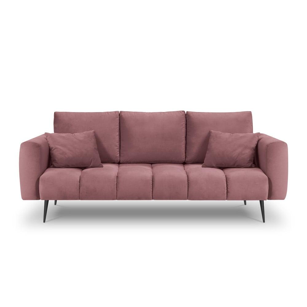 Różowa sofa z aksamitnym obiciem Interieurs 86 Octave