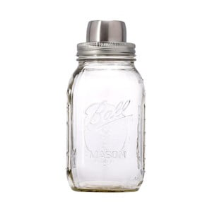 Szklany shaker ze srebrną zakrętką W&P Design The Mason