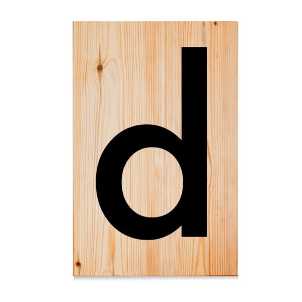 Drewniana tabliczka Letters D