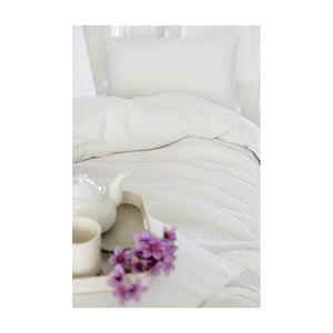 Biała lekka narzuta na łóżko Pure, 200x240 cm