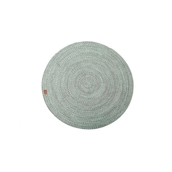 Miętowy dywan okrągły Hawke&Thorn Parker