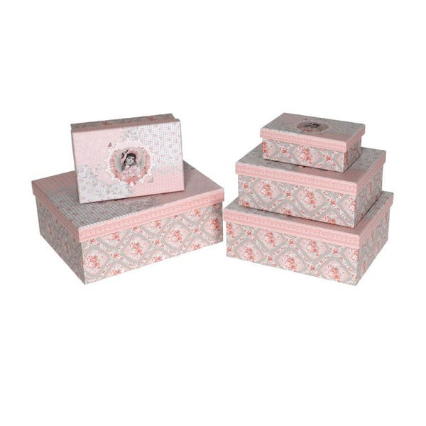 Zestaw 5 pudełek Pink Girls