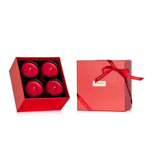 Zestaw podarunkowy 4 świeczek zapachowych o zapachu cynamonu Bahoma London, 35 godzin