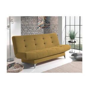 Pomarańczowa sofa rozkładana Sinkro Zero