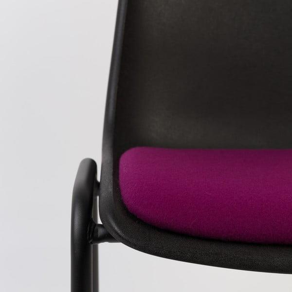Krzesło Back to Gym, czarno-fioletowe