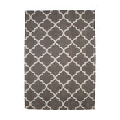 Dywan bawełniany Boho Grey/White, 150x210 cm