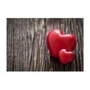 Dywan winylowy Hearts, 52x75 cm