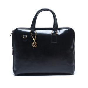 Skórzana torebka Mangotti 375, czarna