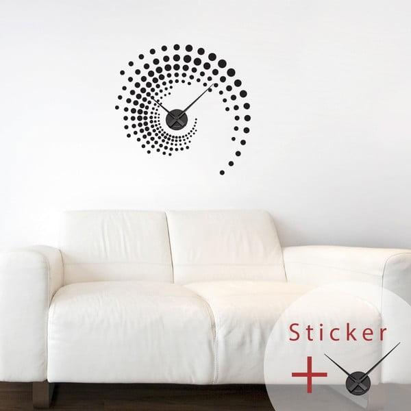Samoprzylepny zegar Spiral, 55 cm