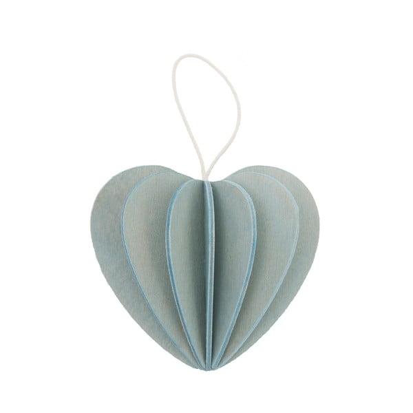 Składana pocztówka Heart Light Blue, 6.8 cm
