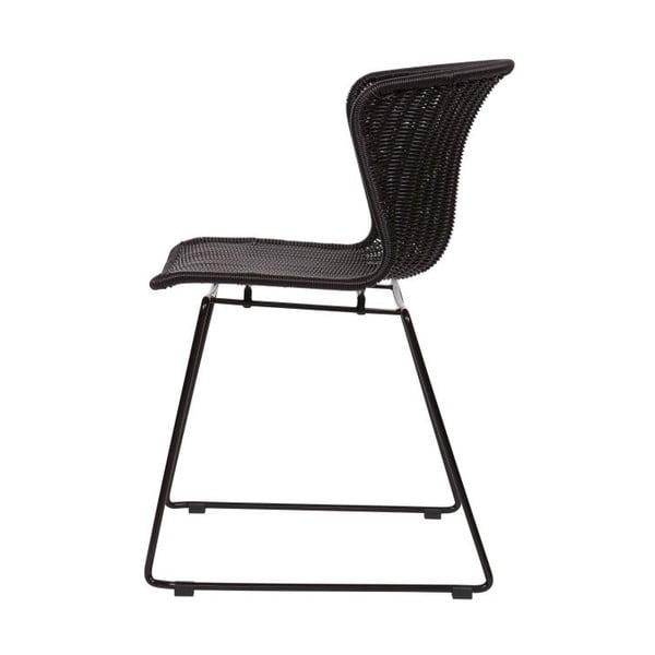 Zestaw 2 krzeseł Wings Black