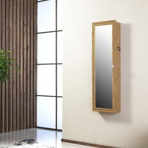 Zamykane lustro wiszące ze schowkiem Lavinia, oliwkowe