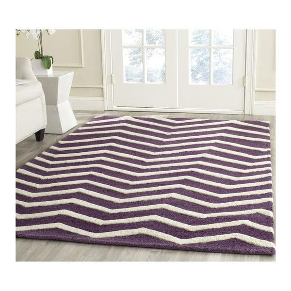 Wełniany dywan Edie Purple, 121x182 cm