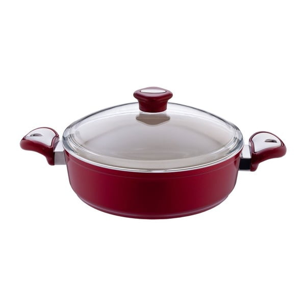 Garnek Lux Shallow Red, 4,5 l
