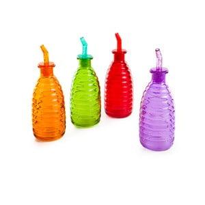 Komplet 4 kolorowych butelek Mezzo