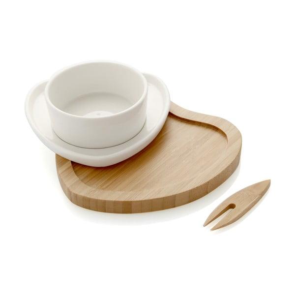 Miska do serwowania przekąsek z bambusową tacą i wykałaczkami Brandani Ciur