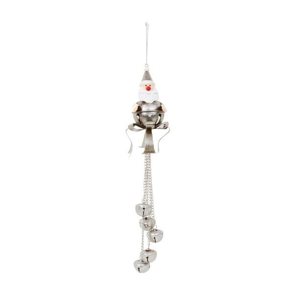 Dekoracja wisząca Archipelago Silver Santa With Bells, 27 cm