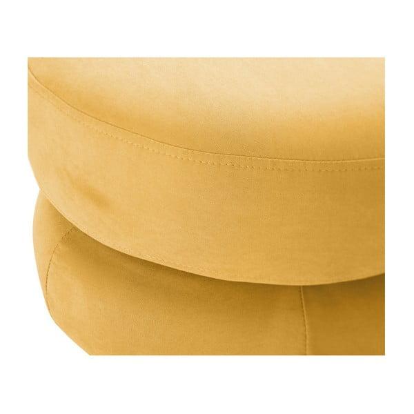 Żółty taboret Scandi by Stella Cadente Maison