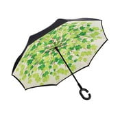 Zielono-czarny parasol Ambiance Leaves, ⌀105cm