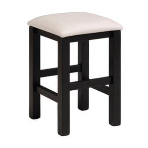 Czarno-biały stołek Parisot Orléans