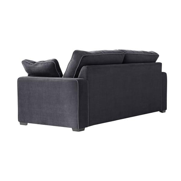 Sofa trzyosobowa Jalouse Maison Serena, czarna