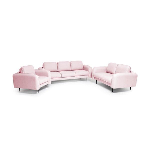 Jasnoróżowy fotel Vivonita Skolm