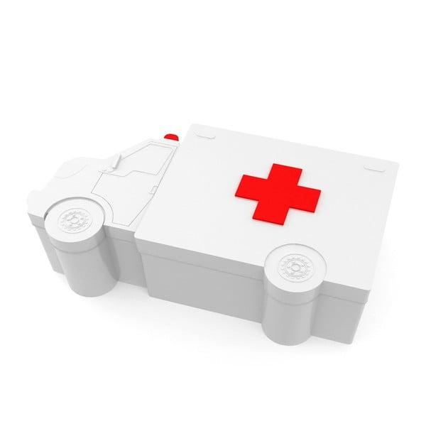 Metalowe pudełko na leki Ambulance