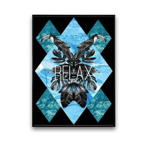 Plakat z tukanami Relax, 30 x 40 cm