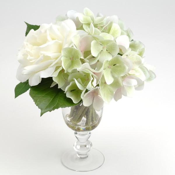 Sztuczne kwiaty w wazonie Milva White