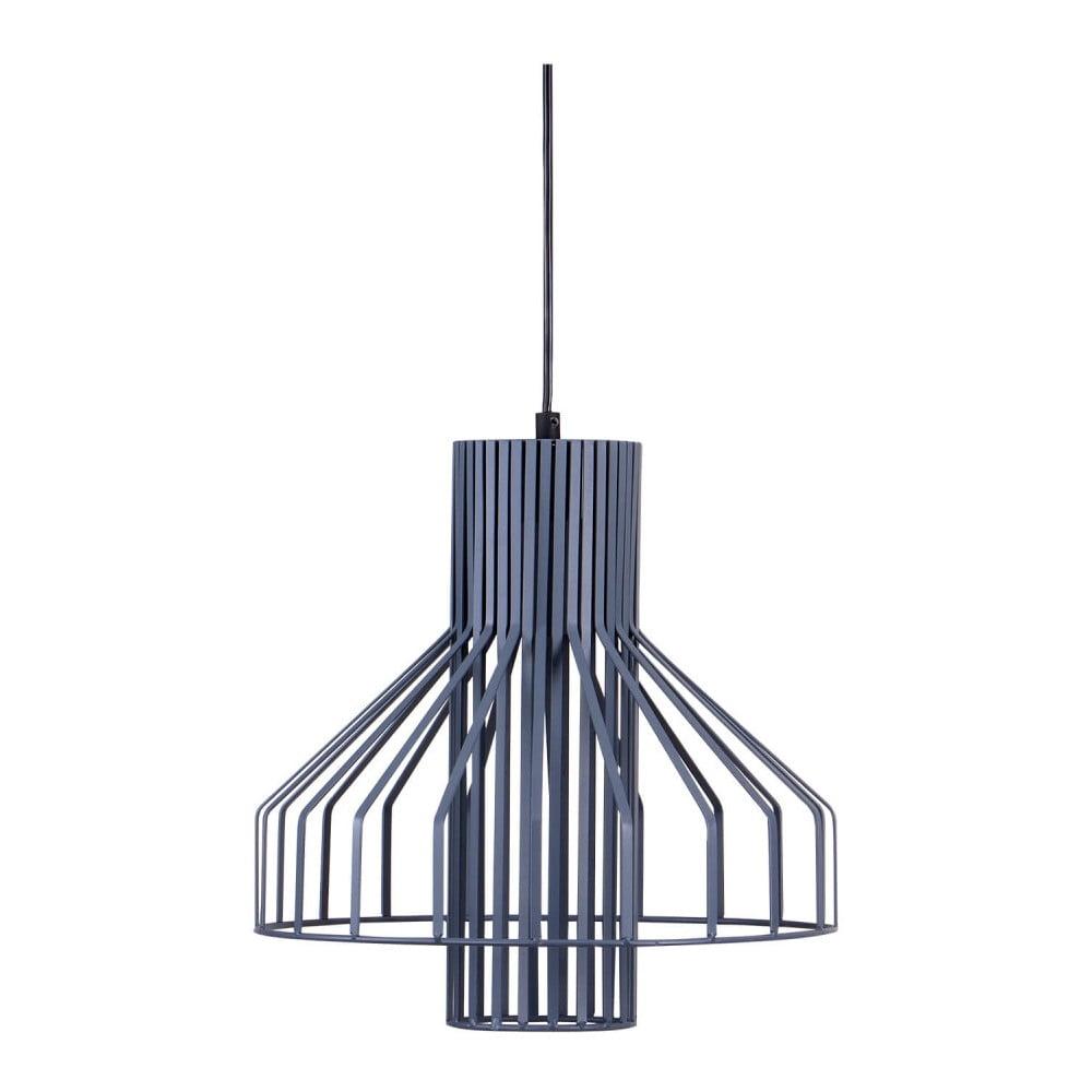 Szaroniebieska lampa wisząca z metalu sømcasa Canet, ø32cm