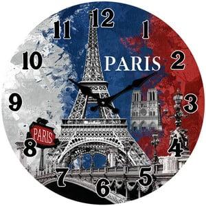 Szklany zegar W Paryżu, 38 cm