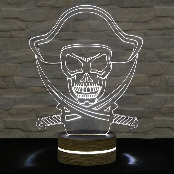 Lampa 3D stołowa Pirate