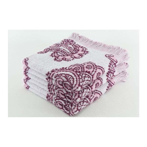 Zestaw 3 ręczników Lord Mauve, 50x100 cm