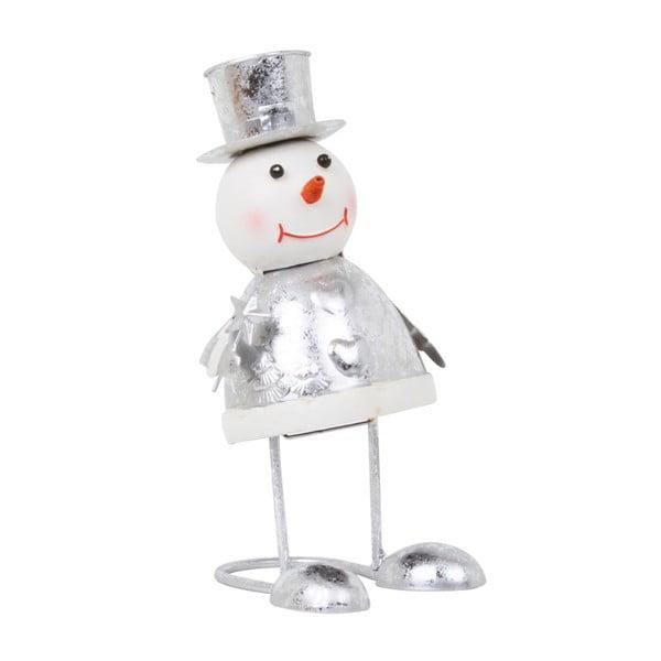 Dekoracja Archipelago Silver Bouncing Top Hat Snowman, 22 cm