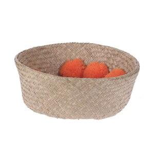 Koszyk pleciony Orange Pom Pom