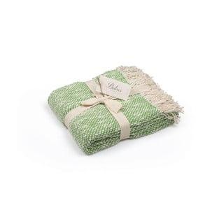 Zielona narzuta bawełniana, 130x170 cm