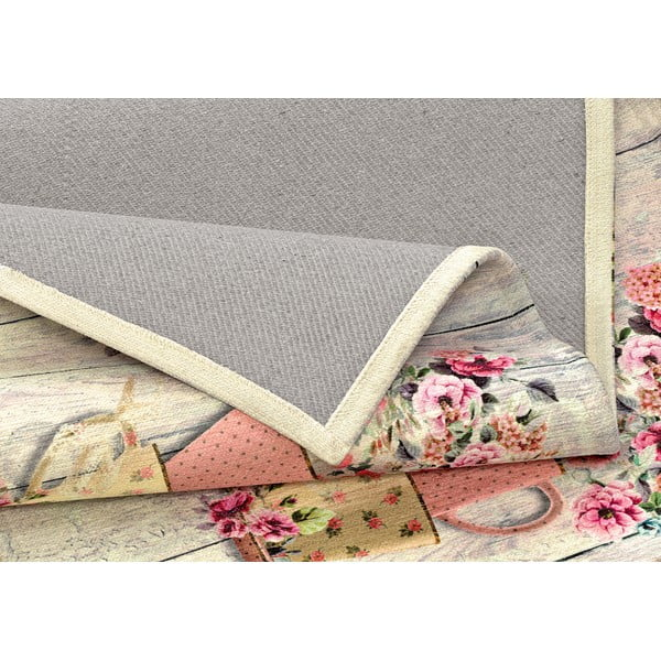 Wytrzymały dywan kuchenny Webtapetti French Garden, 60x240 cm