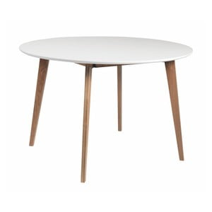 Stół z nogami z drewna dębowego Folke Arild,⌀ 115cm