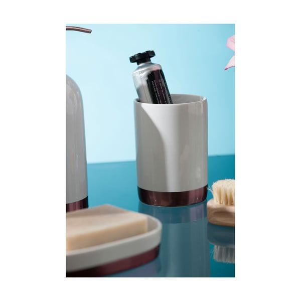Biały kubek kamionkowy Premier Housewares Delta, 260 ml
