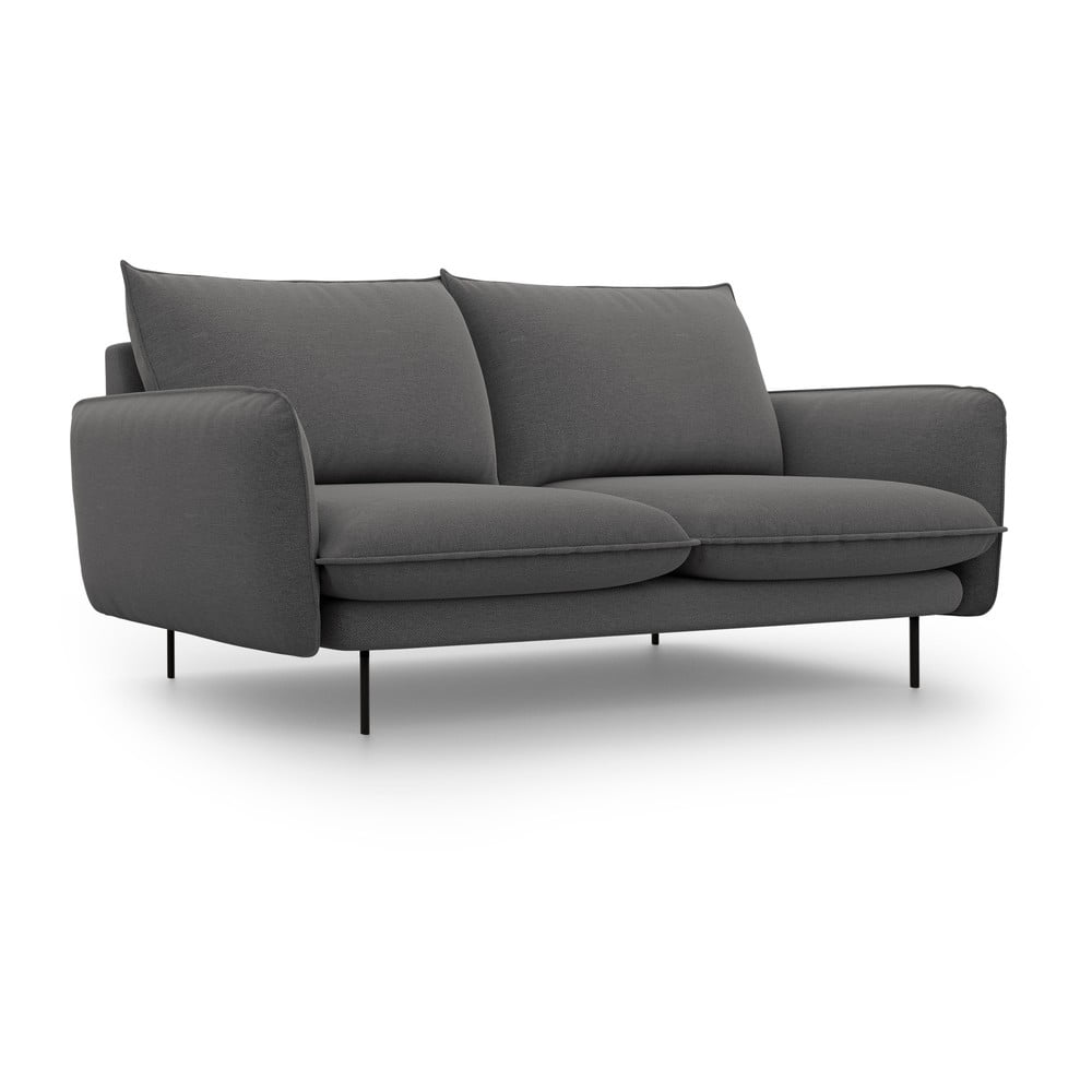 Ciemnoszara sofa Cosmopolitan Design Vienna, 160 cm