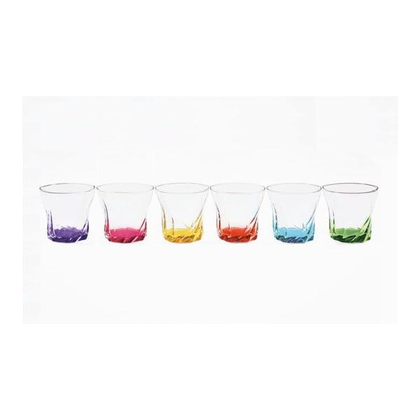 Zestaw szklanek Colored Torsted, 6 sztuk