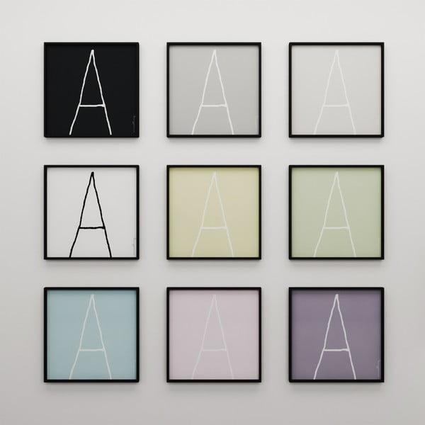Plakat Litera A, 50x50 cm