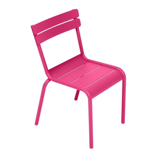Różowe krzesło dziecięce Fermob Luxembourg