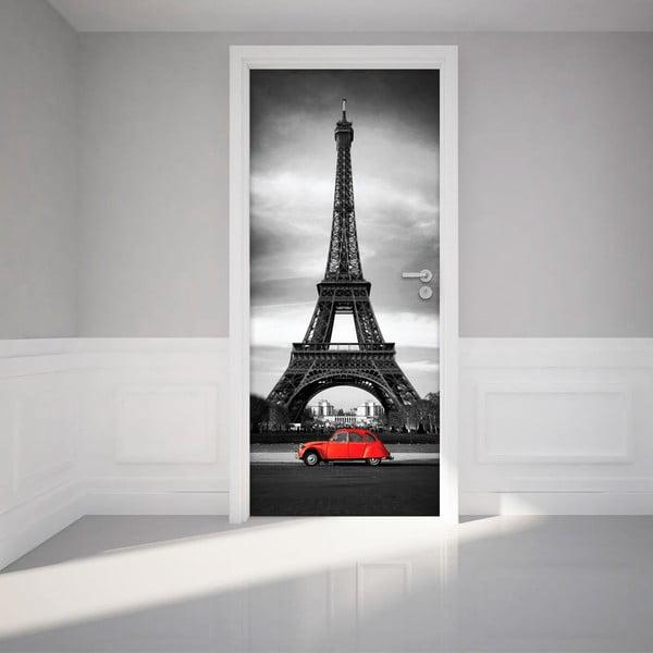 Naklejka   elektrostatyczna na drzwi Ambiance Eiffel Tower