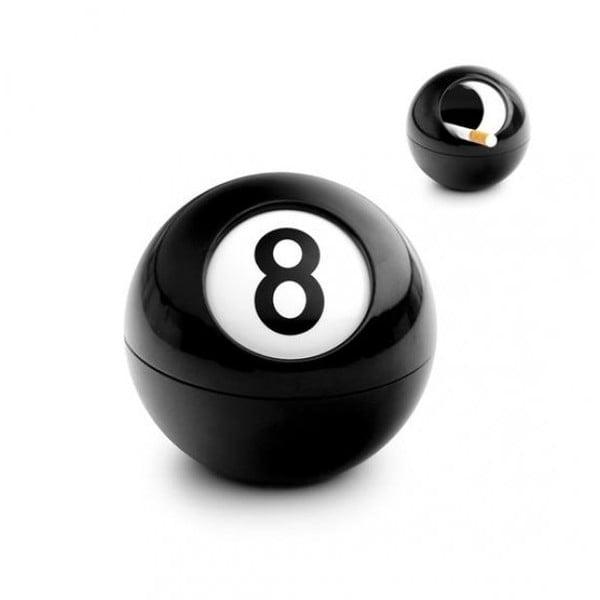 Popielniczka w kształcie kuli bilardowej