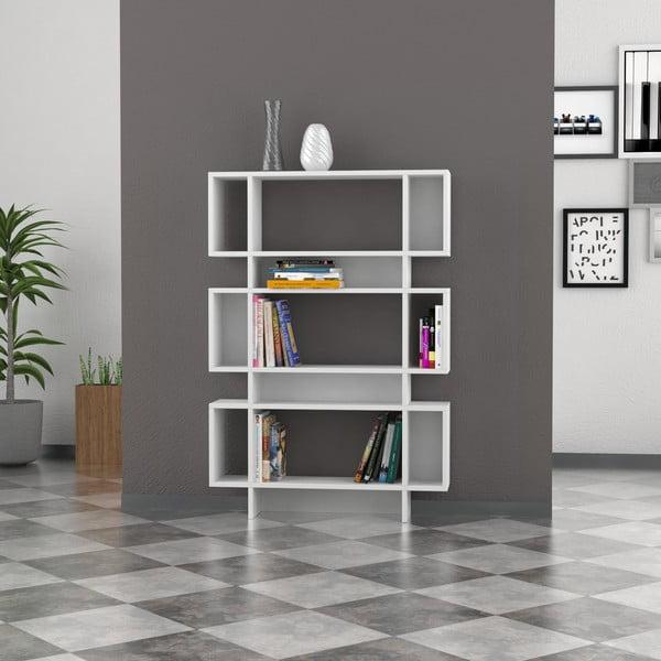 Biblioteczka Poligon 131x90 cm White