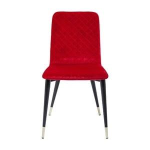 Czerwone krzesło do jadalni Kare Design