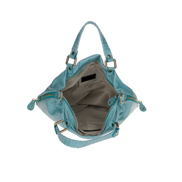 Skórzana torebka Ore Diece Affile, błękitna