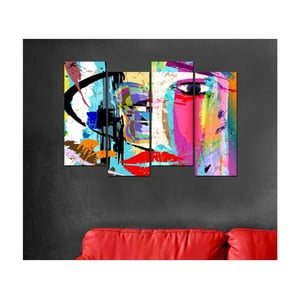 Obraz czteroczęściowy Pop Art, 20x50cm