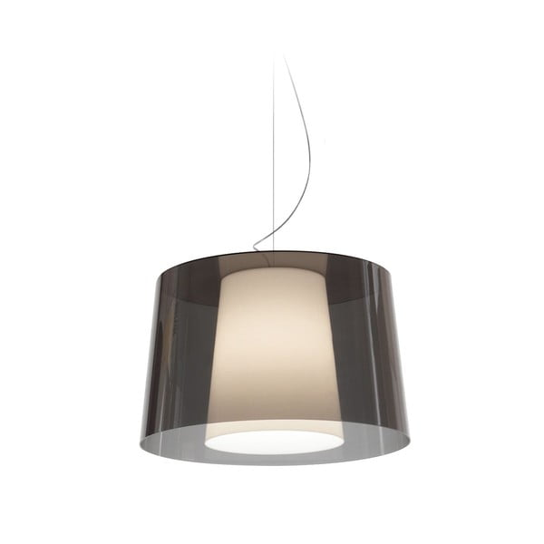 Szara lampa wisząca Pedrali L001S/BA